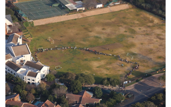 Voters queue in Lonehill, ready to make their mark. Picture: Christa Eybers/EWN.