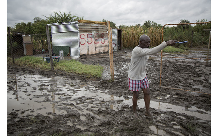 Community members say the flood swept their belongings away after rain flooded their homes at an informal settlement in Soshanguve, Pretoria