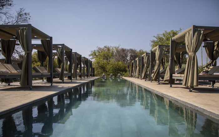 Pool in the Palala game lodge and spa.