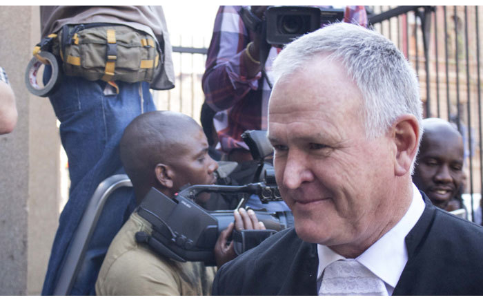Advocate Barry Roux arrives at the High Court in Pretoria ahead of Oscar Pistorius murder trial on 11 September 2014. Picture: Christa Eybers/EWN.