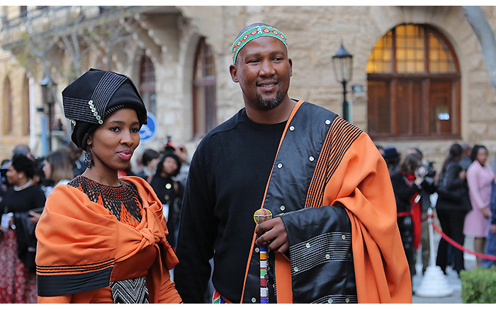 Mandla Mandela once again attended in his trademark traditional robes.