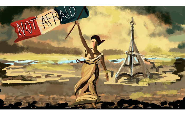 Not Afraid.  Cartoon by Mathilde Adorno