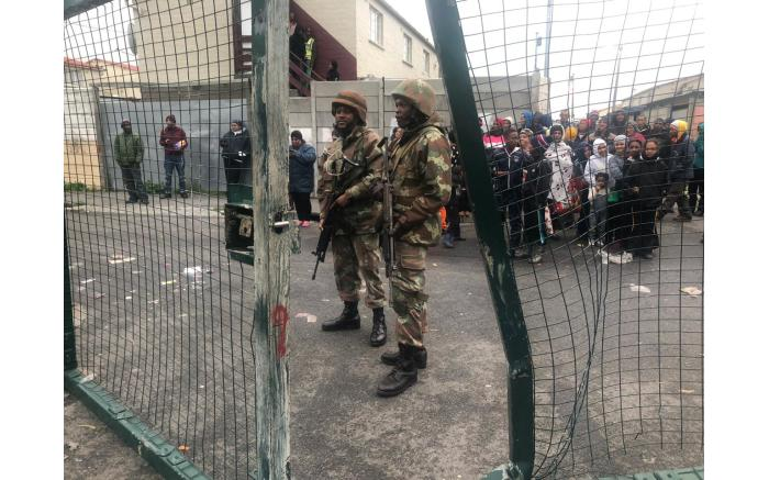 The military release soldiers to help stabilise gang hot-spots in CapeTown. Picture: Bertram Malgas/EWN