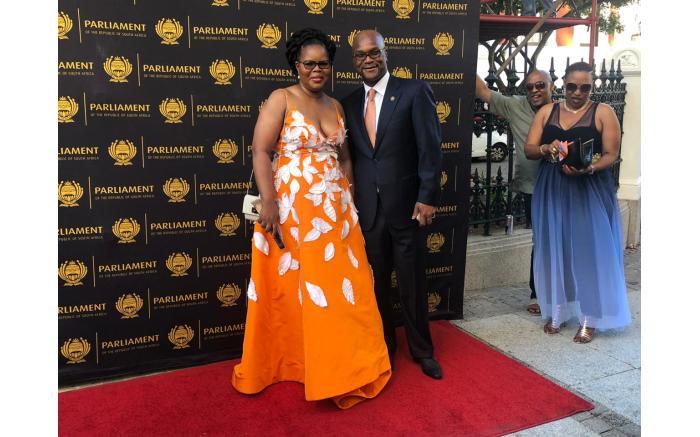 Arts and Culture Minister Nathi Mthethwa with wife Philisiwe Buthelezi