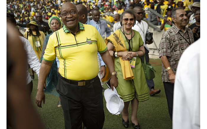 Former President Jacob Zuma arriving at Moses Mabhida Stadium. Picture: Sethembiso Zulu/EWN
