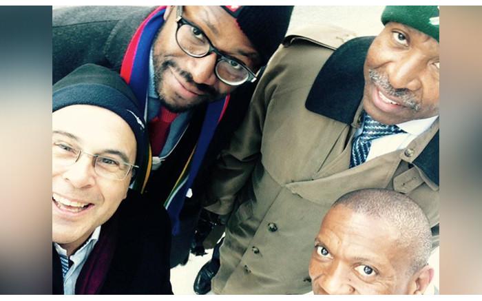 At #wef15 SARB governor Lesetya Kganyago, Old Mutual EM CEO Ralph Mupita and Liberty CEO Thabo Dloti -taking a walk