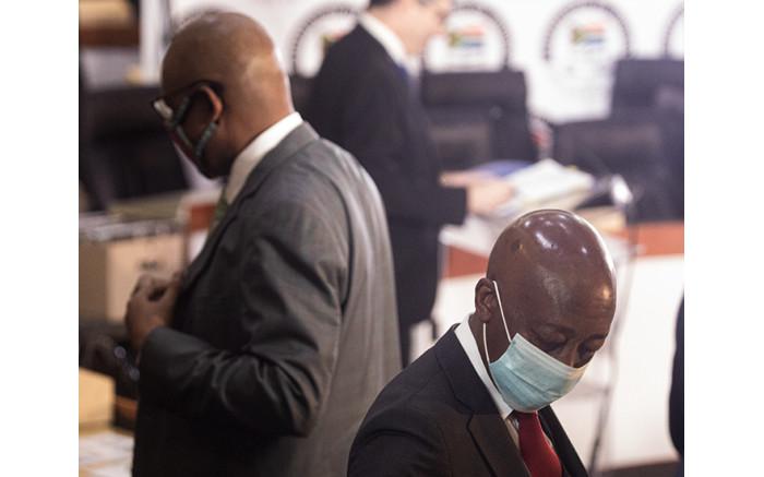Advocate Dali Mpofu and his client Tom Moyane.
