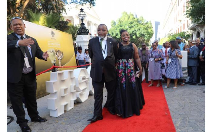 Minister of Mineral and Energy Resources Gwede Mantashe and partner. Kayleen Morgan/EWN