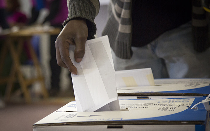 A voter casts their ballot in Imizamo Yethu, Hout Bay, on 3 August 2016. Picture: Aletta Harrison/EWN.