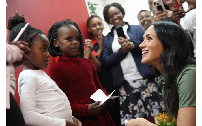 The Duchess of Sussex Meghan Markle visits Action Aid, an organization working against poverty and injustice. Picture: Kayleen Morgan/EWN