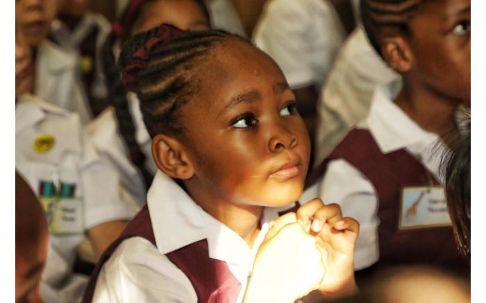 A Grade 1 at Northcliff Primary School on the first day of school.
