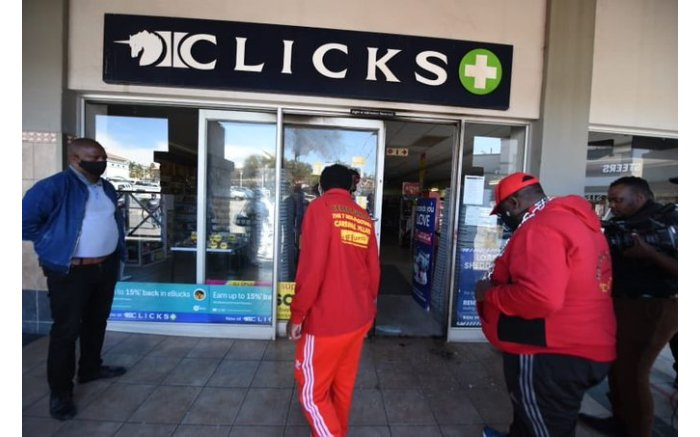 EFF leader Julius Malema at Cycad Clicks in Polokwane shutting it down. Picture: EFF @EFFSouthAfrica