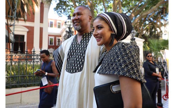 ANC MP Mandla Mandela and his wife Raabia. Kayleen Morgan/EWN
