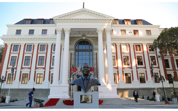 The finishing touches are put on the grounds of Parliament ahead of the State of the Nation Address on 17 June 2014. Picture: Aletta Gardner/EWN