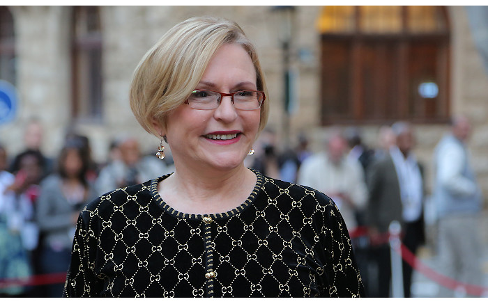 Western Cape Premier Helen Zille bought her outfit at a vintage store in Hermanus.
