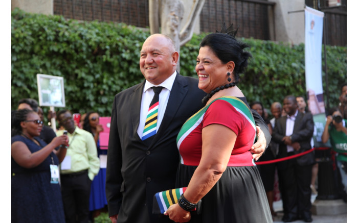 A patriotic statement incorporating the South African flag seemed fitting for the occasion.