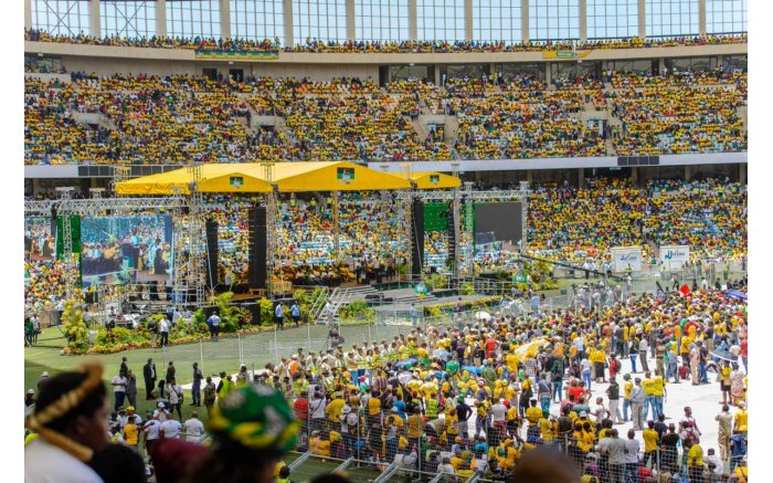 The Moses Mabhida Stadium was filled to capacity. Picture: Twitter @MyAnc.