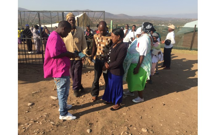 Ntolwane Primary School in Nkandla where people queue to vote. Picture: Kgotatso Mogale/EWN.