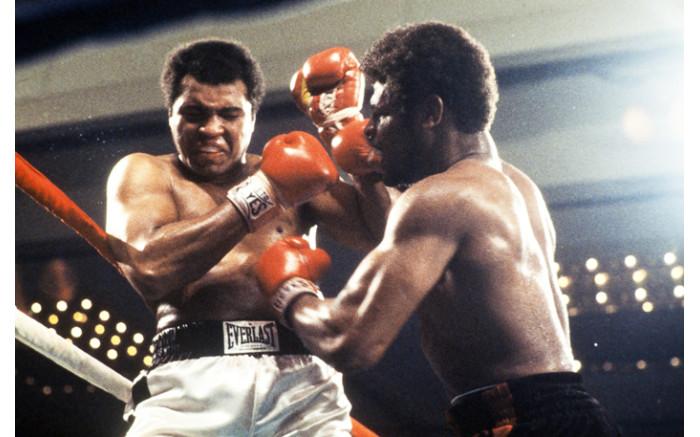 World heavyweight champion Muhammad Ali and US Leon Spinks fight on February 15, 1978 in Las Vegas during their world heavyweight fight.
