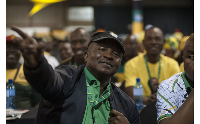 David Mabuza with the Mpumalanga delegation at the ANC's national conference on 17 December 2017. Picture: Ihsaan Haffejee/EWN.
