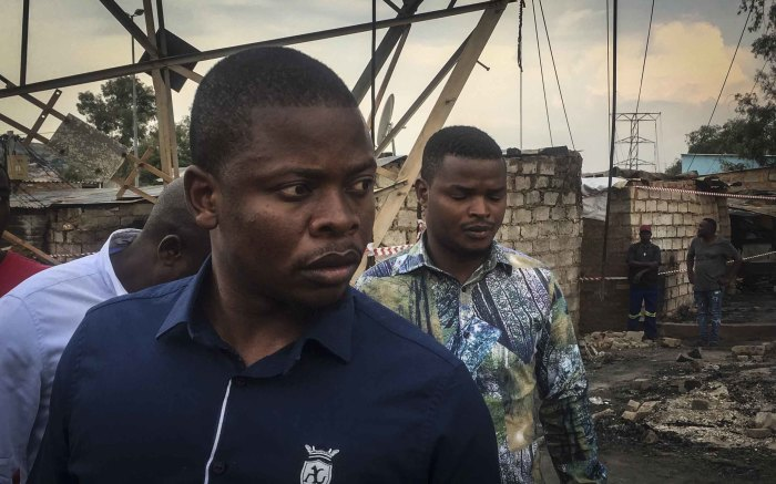 Pastor Shepherd Bushiri visited Alexandra following a fire burnt more than 100 shacks to the ground. Photo: Ahmed Kajee/EWN