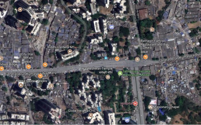 Mumbai, India. Very populated cities use parks not lawns to provide for a space to enjoy the outdoors.