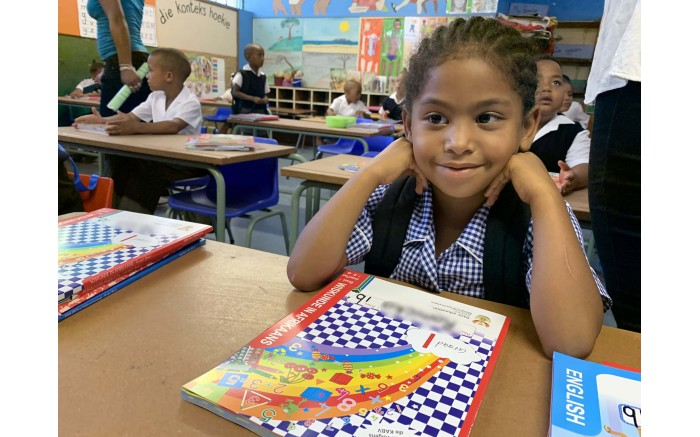 Bergville Primary School Grade 1 learners on the first day of school.