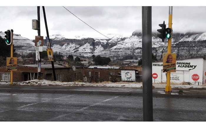 Snowfall in the Free State. Picture: Snow Report official Facebook page.
