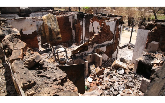 What used to be the inside of Johannes and Daphne Salomo's lounge. Picture: Bertram Malgas/EWN