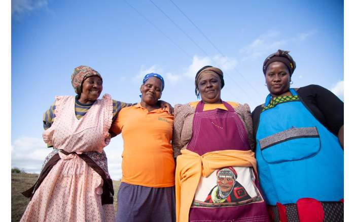 Makazole Mapimpi's family poses for a photo in his home town in the Eastern Cape. Picture: Christa Eybers/EWN