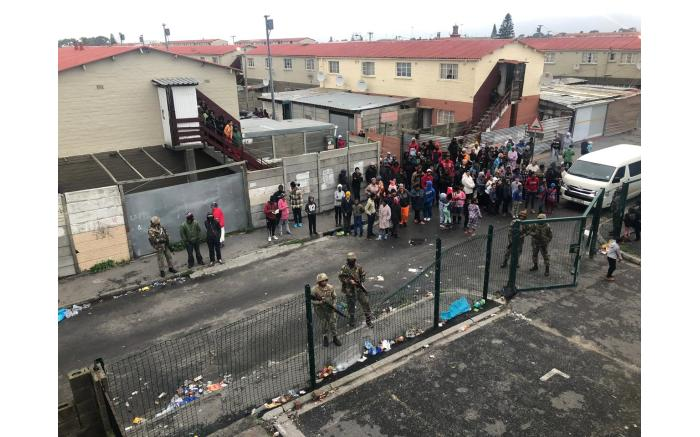 The SANDF arrived in Manenberg on 18 July 2019, as part of an anti-crime operation. Picture: Bertram Malgas/EWN.
