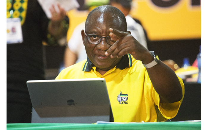Cyril Ramaphosa during the nominations process at the ANC's national conference on 17 December 2017. Picture: Sethembiso Zulu/EWN
