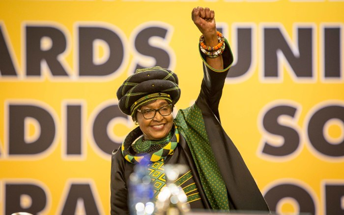 ANC stalwart Winnie Mandela inside the plenary at the party's 54th national conference on 16 December 2017. Picture: Thomas Holder/EWN.
