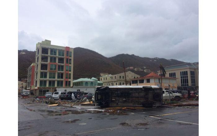 The devastating aftermath of Hurricane Irma on the British Virgin Islands.  Picture: Jared Milsom