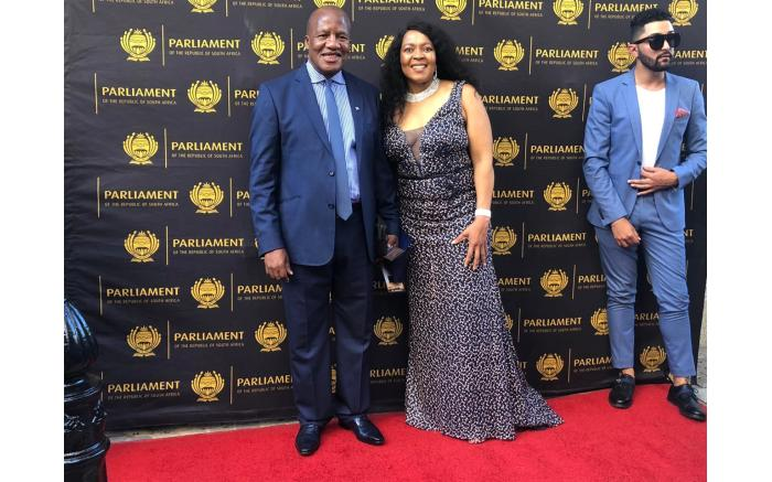 ANC chief whip Jackson Mthembu with his wife Thembi.