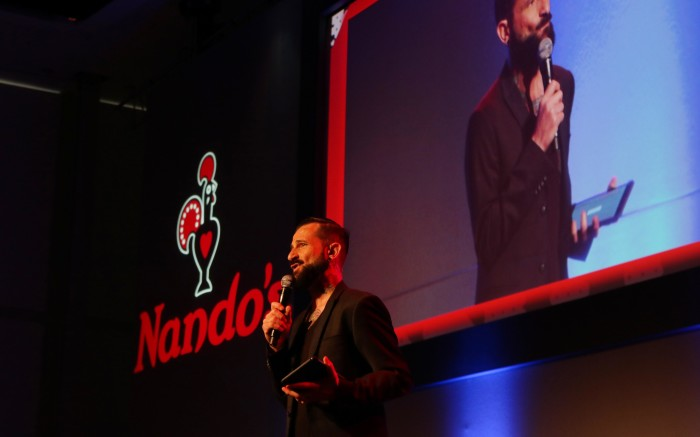 Comedian John Vlismas is the MC for the event.