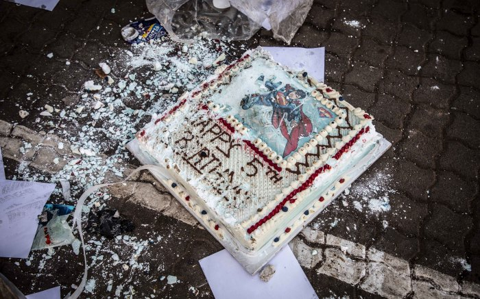 Birthday cake. Picture: Abigail Javier/Eyewitness News