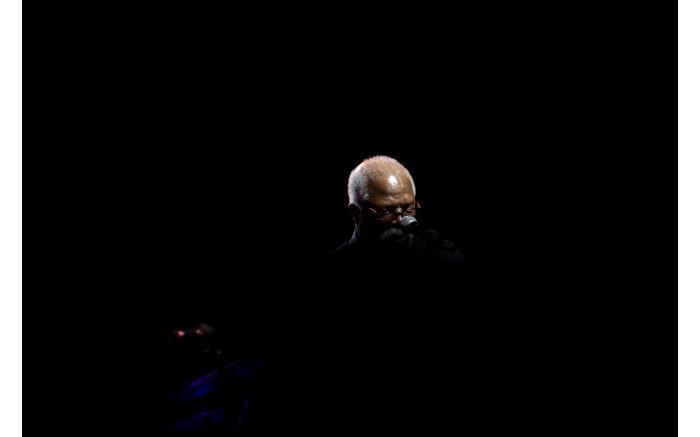John Kani on stage during the Johnny Clegg memorial. Picture: Kayleen Morgan/EWN