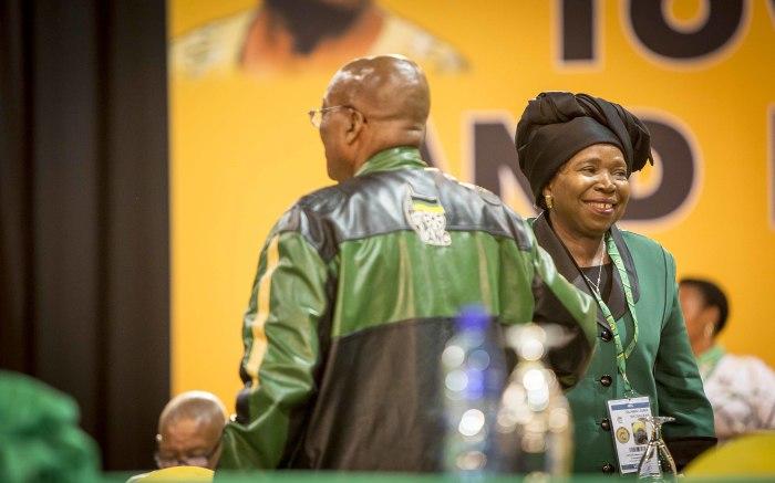 President Jacob Zuma and Nkosazana Dlamini Zuma at the start of the ANC's 54th national conference. Picture: Thomas Holder/EWN.