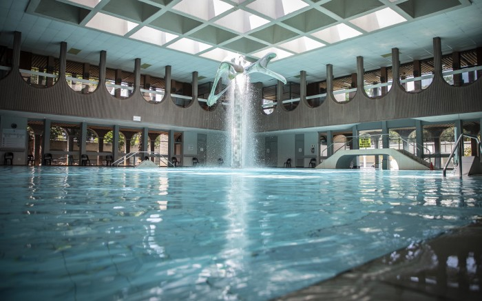 Indoor swimming pool in the Hydro spa at Warmbaths.