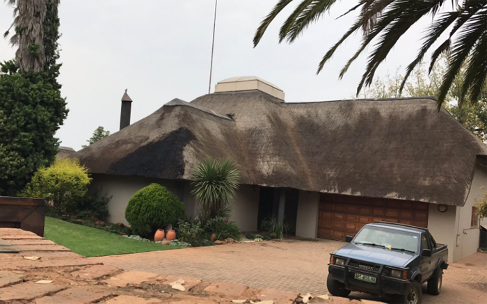 Community members tried to set fire to a second house in Coligny.  Picture: Masa Kekana/EWN