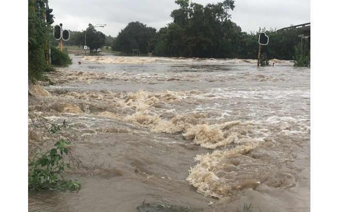 John Vorster Drive at Rabie in Centurion has been closed due to flooding. Picture: Christa Eybers/EWN.