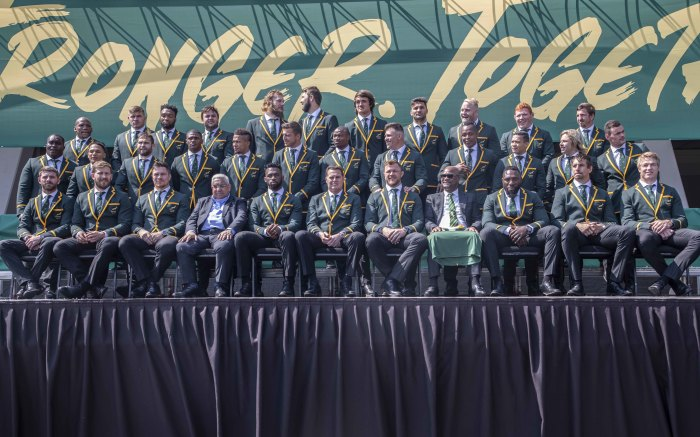 The Springboks were give a rousing send-off as they depart for the 2019 Rugby World Cup in Japan on 30 August 2019.
