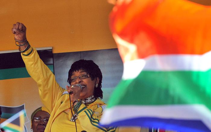 Winnie Madikizela-Mandela addresses members of the ANC.