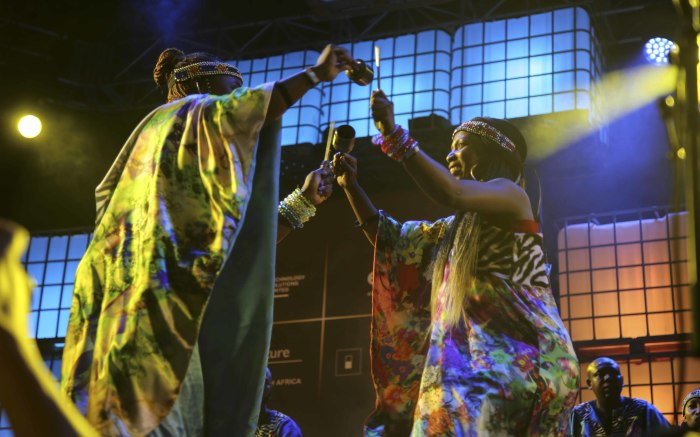 The Multi-Grammy Award Winning Soweto Gospel Choir give a spectacular performance on the Kippies Stage. Picture: Cindy Archillies/EWN
