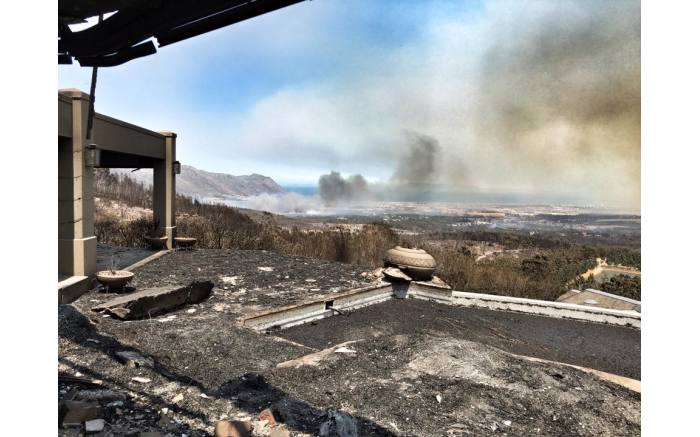 A view from the Bezweni Lodge after a fire broke out. Picture: Jaco Kruger/Facebook.com