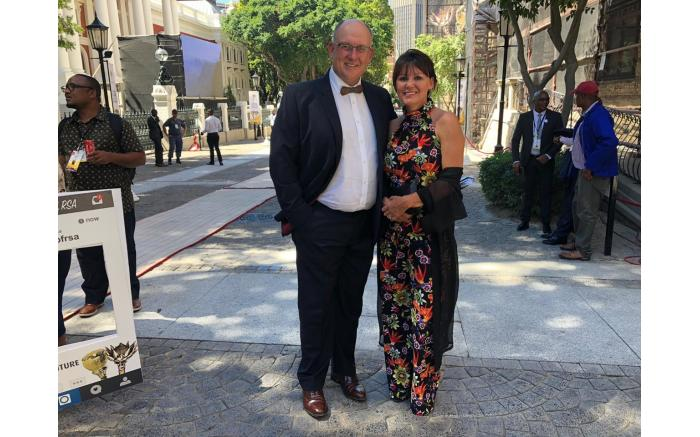 DA federal chairperson Athol Trollip and his wife Janine.