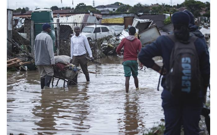 Residents of Mamelodi was hit by floods as heavy rains hit Gauteng. Picture: Sethembiso Zulu/EWN