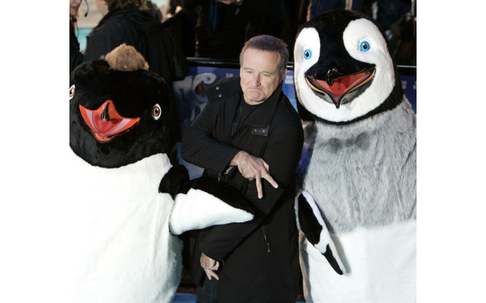 US actor Robin Williams arrives for the European premiere of the animated comedy feature fim 'Happy Feet' at the Empire cinema, Leicester Square, London, 26 November 2006. Picture: AFP.