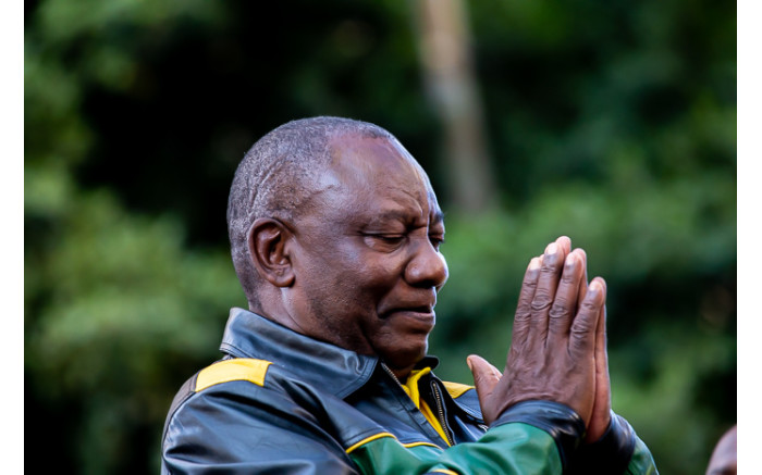 President Cyril Ramaphosa thanks ANC supporters for ongoing support. Picture: Kayleen Morgan/EWN